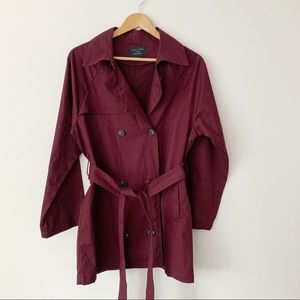 Love Tree Fall Coat with Tie